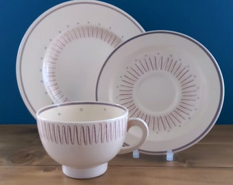 Art Deco Susie Cooper Tea Cup, Saucer and Side Plate