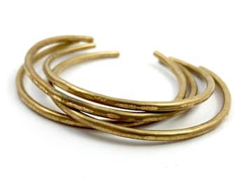 Hammered Brass Bangles
