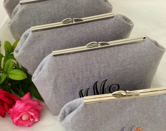 Wedding Snap Clutch, Customizable, Bridal Party Clutch, Bridal Party Gift Set