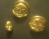 1960s Vintage New Celluloid Buddha Character Buttons (set of 3)