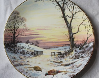 SALE! Royal Doulton Elizabeth Gray Bone China Plate - Evening Glow - At Pleace With Nature - Collectibles - Home Decor - Vintage Wall Decor