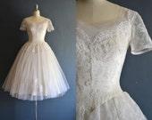 r e s e r v e d ..... Susan / 50s wedding dress / vintage 1950s wedding dress