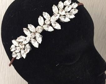 Bridal tiara - bridal headpiece - Tiara -  wedding headdress -  vintage inspired - Tiara - Sparkle headband -  wedding headband