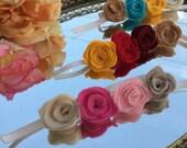 Baby Flower Crown Headbands, Halo, Felt Roses Baby Halo, Rose Flower Crown, Flower Crown Headband, Baby Girl Headband