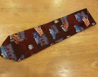 Route 66 silk necktie by American Lifestyle