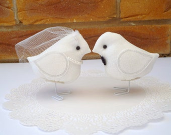 His and Hers set of wedding birds.
