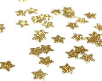"Gold Glitter Star Confetti - 5/8"" Gold Confetti. Wedding Confetti. Gold Party Decor. Tabletop Decor. First Birthday. Baby Shower."
