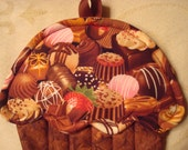 Chocolate Lover Cupcake Shaped Potholder