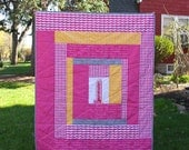 """Patchwork Baby Quilt, """"Uptown"""" center panel and Minnesota Themed Prints"""