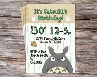 Totoro Birthday Digital Invite
