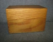 Vintage Wooden Wood Recipe Box Hinged