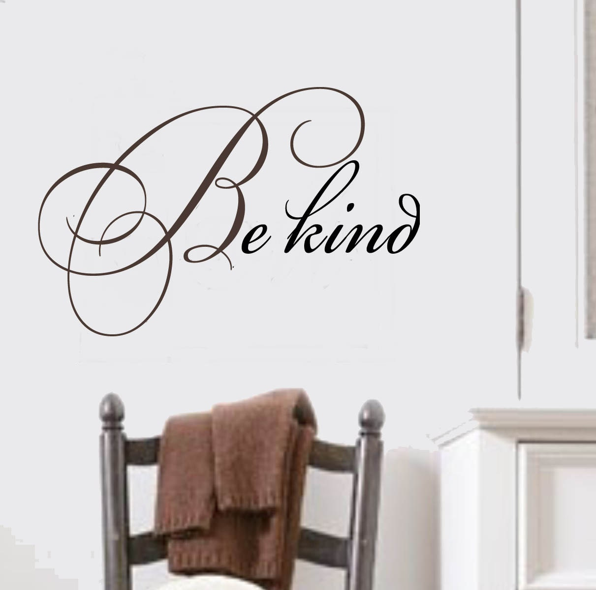 Diy custom wall decals that will make you swoon designertrappedcom be kind family vinyl wall lettering decal large size how to make large vinyl wall amipublicfo Images