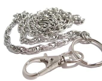 Beautiful Chain Badge Holder- Id Lanyard- Work Lanyard- Chain Lanyard- Id Badge Holder- Id Necklace- Teacher Lanyard, Nurse Lanyard, Lanyard