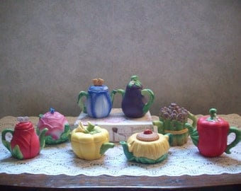 Avon Tea  Pots  - Collectibles - Vegetables