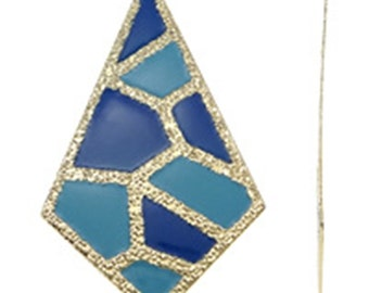 2pc 85x51mm gold plated iron with enamel pendant-10202