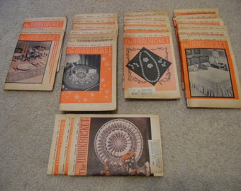 22 The Workbasket Issues from 1961, 1962 and 1963 - knitting, crocheting, tatting, dress making, cooking, crafting and old ads