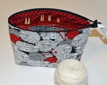 Made to order padded interchangable circular knitting needles bag