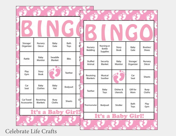 Critical image regarding free printable baby shower bingo cards for 30 people