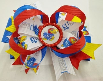 KU Inspired HAIR BOW will show your team spirit.