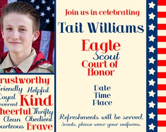 Custom Boy Scout Eagle Court of Honor Invitation