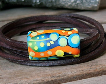 Bohemian Hippies // Stripes & Dots // Murano Glass Jewelry // Contemporary Necklace // Statement Necklace