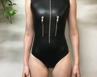 Zipper bodysuit