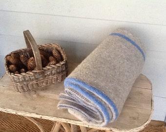 Vintage Wonderful Wooly Thick Blanket