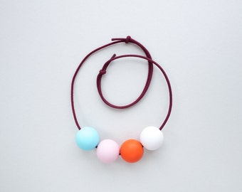 TAMA Necklace  -  Blue / Pink / Red / White