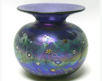 "Purple ""Monet"" Puffer Vase"