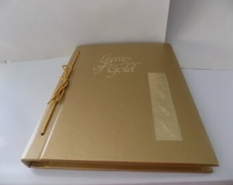 Vintage Leaves of Gold Book-An Anthology of Prayers, Memorable Phrases, Inspirational Verse And Prose