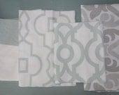 Remnant/Scrap Fabric - Green, grey fabric