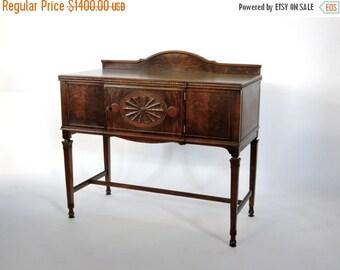 Half Price SALE Antique Server circa 1900. Mahogany & Walnut Small Buffet from Grand Rapids