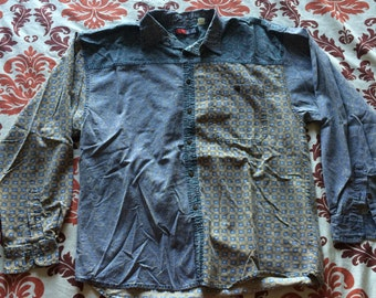 Vintage Today's News Button Up Shirt