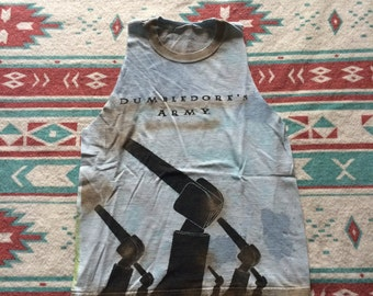 Custom Distressed Harry Potter Dumbledore's Army LEGO Cut Off Shirt