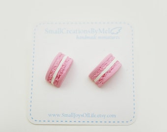 Miniature Macaron Earrings Studs