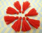 Wholesale 50pcs re tassels red silk tassels satin tassels Jewelry tassels for decorating tassels