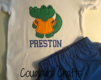 Toddler BOYS Gator Mascot Outfit **Available in Sizes 12 Months through 5T**