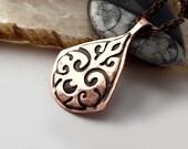 Moon Sigil Pendant - Copper Pendant, Eco Friendly, Artisan, Handmade, Magick, Protection, Moon, Gypsy, Boho, Witch, Goddess, Symbol