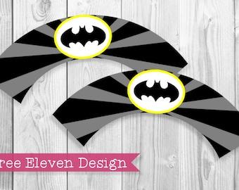 Batman PRINTABLE Cupcake Wrappers