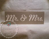 Mr. & Mrs. Hand Painted Wood Box Sign Wedding Engagement Photo Prop