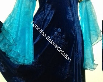 Dress medieval Princess, fairy tale, beautiful velvet.