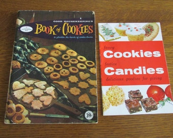 Vintage Cookies and Candies Cookbooks 1950s