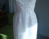 Gorgeous 60s sequined lace full-length dress - VLV - glamour - pinup