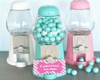 Mini Gumball Machines, Gumball Machine, Mini Gumball Party Favor, Wedding Favor, Candyland Party - 12 per set