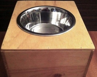 Sale! Elevated Wine Crate SINGLE 6-Cup Feeder - For A Dog or Cat - UpScaled
