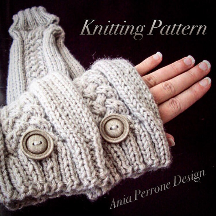 Knitting Pattern For Leg Warmers With Buttons : Knitting Pattern Knit Leg Warmers Over the Knee Extra