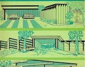 1964 CARPORTS and GARAGES Vintage Sunset Book Mid Century Modern Design