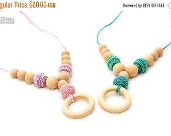 SALE 25% off Nursing necklace - Etno Mama Nursing Necklace - Teething ring by MagazinIL Choose Your Bead Color