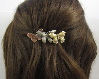 Butterfly Barrette 60mm or 70mm size clip