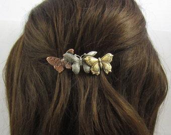 Butterfly Barrette 70mm size clip